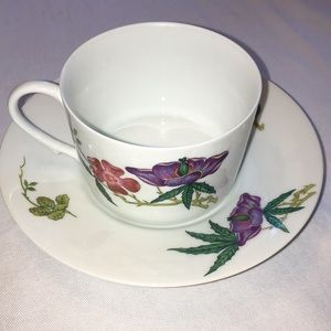 Raynaud Co Limoges Diorafllor Cup & Saucer